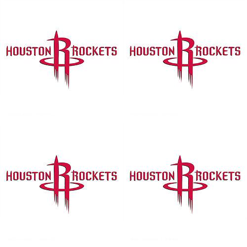 Houston Rockets Face Tattoos 4ct