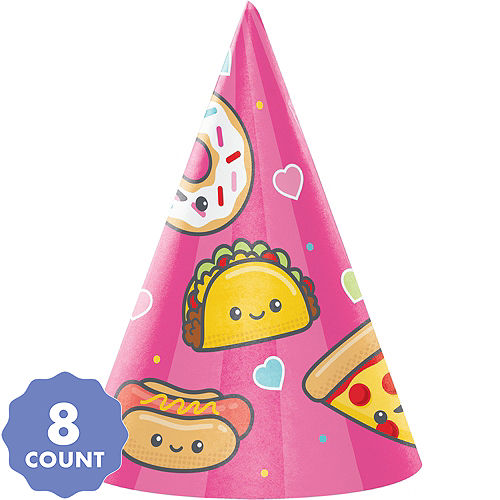Junk Food Fun Party Hats 8ct