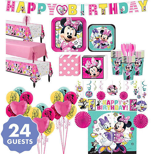 Minnie Mouse Ultimate Party Kit For 24 Guests