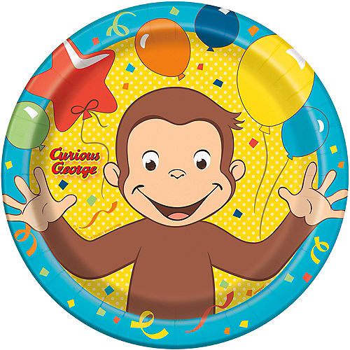 Curious George Lunch Plates 8ct