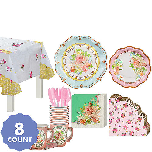 Floral Tea Party Kit For 8 Guests
