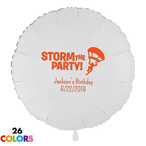 Personalized Boys Birthday Round Balloon
