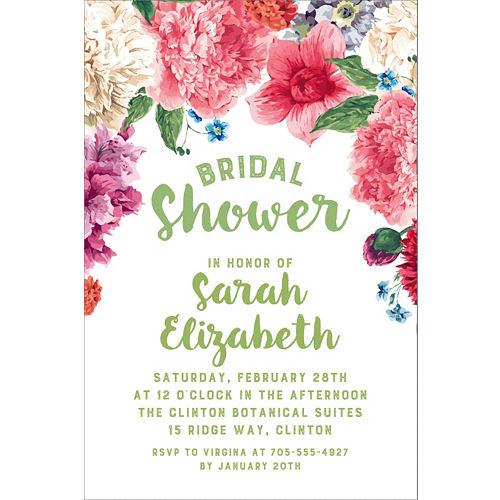 aa14605c5b5b Custom Floral Border Bridal Shower Invitations