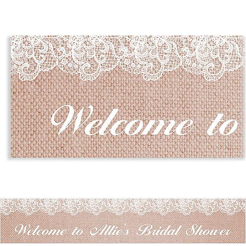 custom burlap lace bridal shower banner