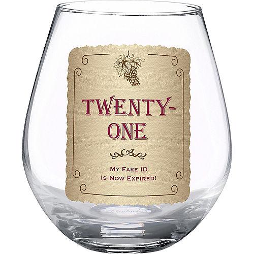 Grasslands 21st Birthday Stemless Wine Glass