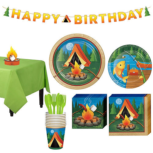 Camping Tableware Party Kit For 8 Guests