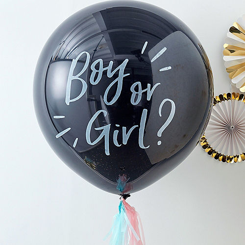 Ginger Ray Black Gender Reveal Confetti Balloon Pop Kit 5pc