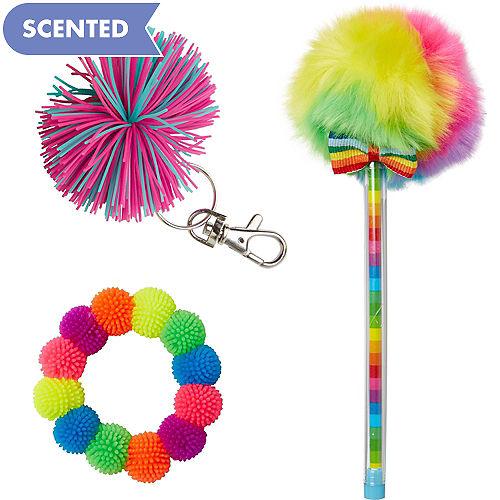 Scented Colorful Pom Favor Set 3pc
