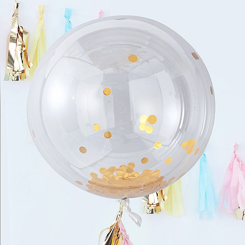 Ginger Ray Giant Gold Confetti Balloons 3ct