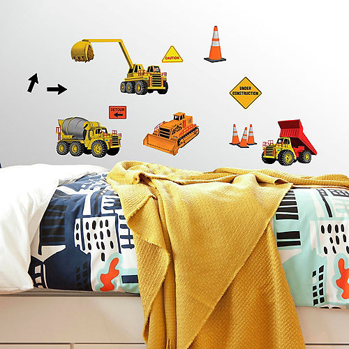 Construction Wall Decals 23ct
