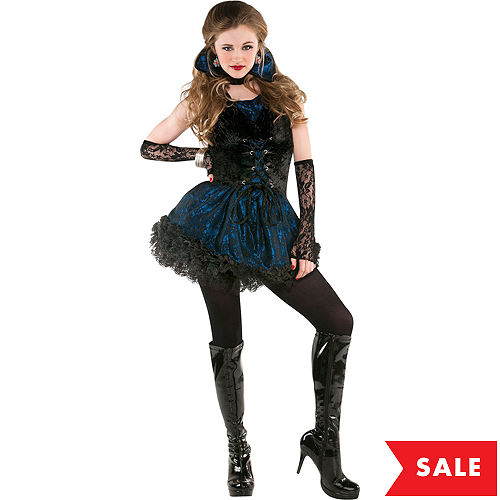 Vampire costumes for kids adults vampire costume ideas party city teen girls midnight vampire costume solutioingenieria Images