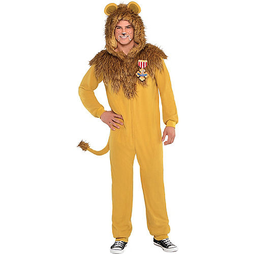 Adult Zipster Cowardly Lion One Piece Costume - The Wizard of Oz