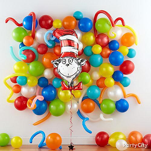 Reading Party Balloon Wall Idea