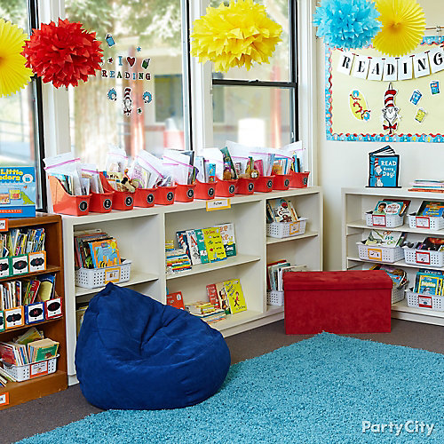 Dr. Seuss Theme Reading Nook Idea