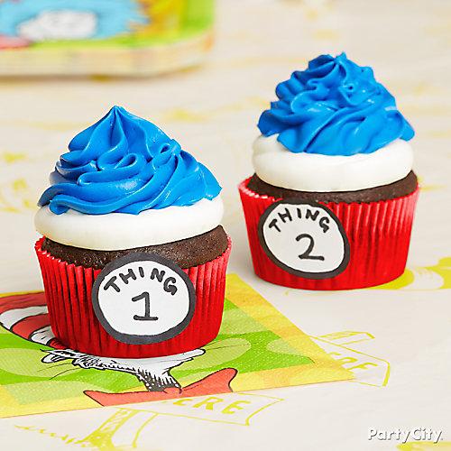 Thing 1 Thing 2 Cupcakes Idea