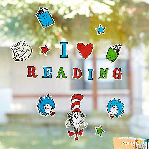 Dr. Seuss Window Cling Idea
