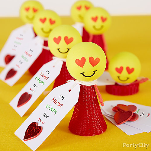 Smiley Valentine's Easy Favor Idea
