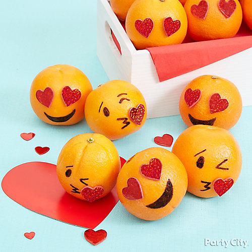 Smiley Valentine's Party Healthy Treat Idea
